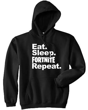 Mars Ny Eat Sleep Fort Nite Repeat Hoodie Funny Video Gamer Gaming Player Hoodie Sand