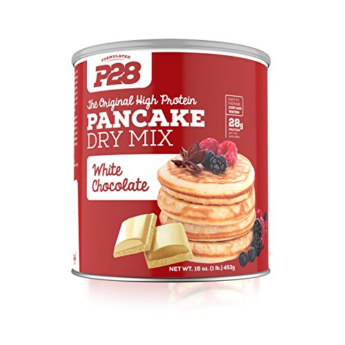 P28 Foods The Original High Protein Pancake Dry Mix, White Chocolate, 16 Ounce