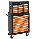 tamsun 16 Drawers Tool Cart Top Chest Box Rolling