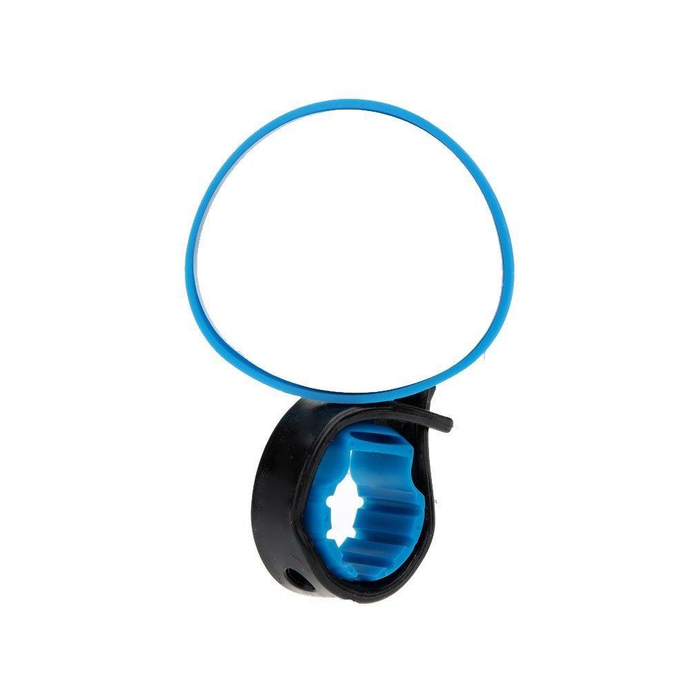 TOOGOO Retroviseur avec support de guidon// miroir convexe reflechissant de securite pour VTT et velos Rouge