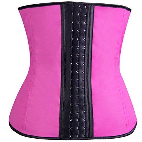 Kora Women's Slimming Waist Training Overbust Cincher Shapewear Bustier Corsets Color Hotpink Size S