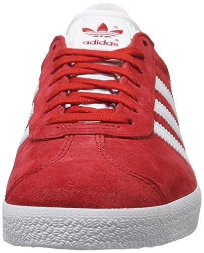 Unisex Zapatillas Power Adulto Rojo Gazelle Gold Met Red adidas White 4xqgwg