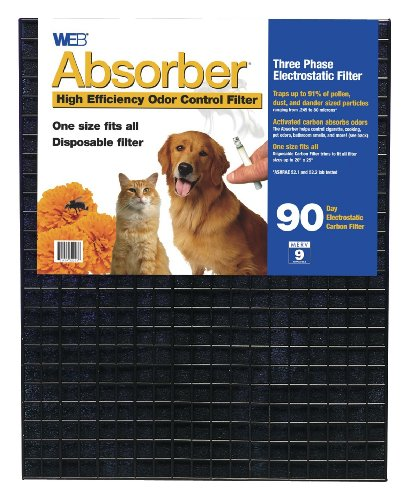 WEB Absorber Cut to Fit Odor Control Air Filter with (Purity Furnace Filter)