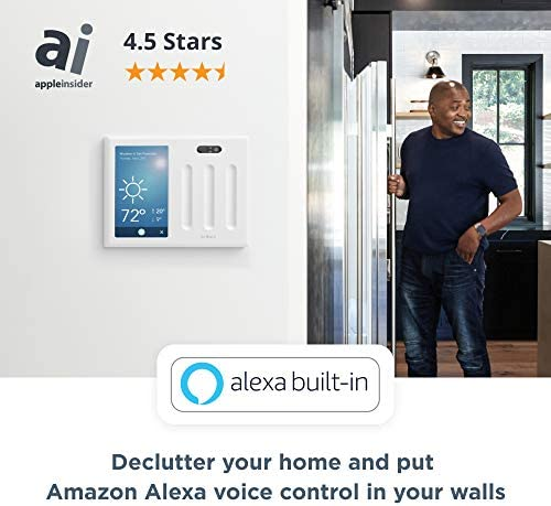 Brilliant Smart Home Control (2-Switch Panel) — Alexa Built-In & Compatible with Ring, Sonos, Hue, Kasa/TP-Link, Wemo, SmartThings, Apple HomeKit — In-Wall Touchscreen Control for Lights, Music & More 51qdZjubpkL