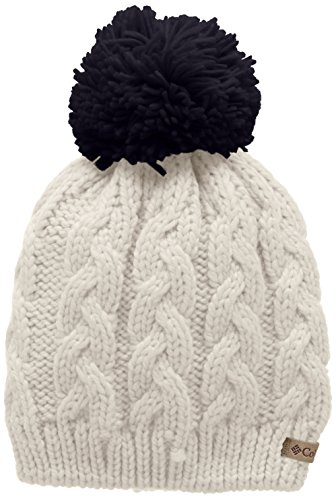 Columbia Women's In-Bounds Beanie, Chalk, Ebony Blue, One Size