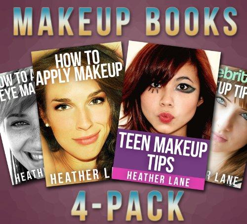 Makeup Books 4-Pack (How to Apply Makeup, How to Apply Eye Makeup Tips, Celebrity Makeup Tips, and Teen Makeup Tips)