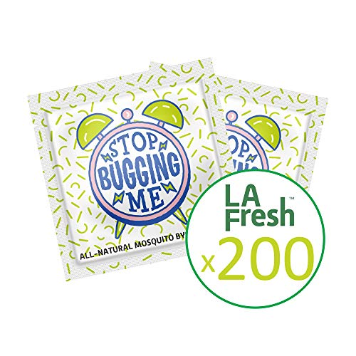 La Fresh Mosquito Repellent Wipes, Individually Wrapped - Natural, Deet Free, Non Toxic, Long Lasting Repellent Protects Against Almost All Bugs 200 Packets