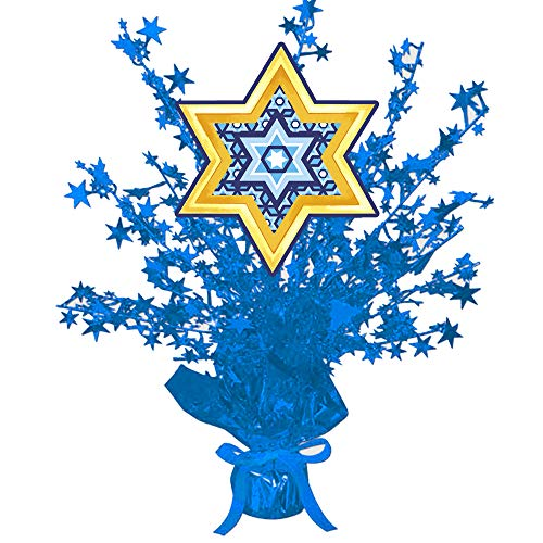 Star of David Centerpiece Blue Star (Each) by Partypro