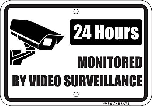 Surveillance Commercial aluminum outdoors Lettering