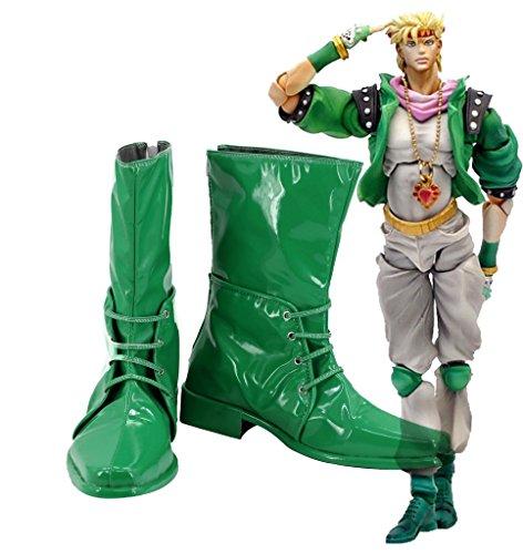 Jojos Bizarre Adventure 2 Caesar Anthonio Zeppeli Botas Zapatos De Cosplay Botas Verdes Por Encargo