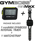 Bundle - 2 items: 1 Gymboss miniMAX Interval Timer and Stopwatch + 1 Gymboss Watch Strap