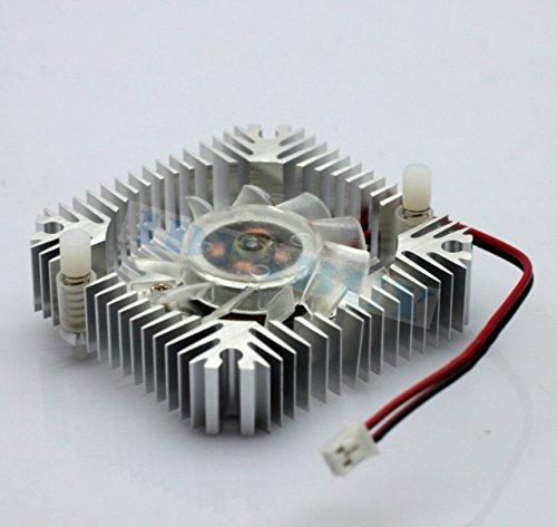 Vga Fan (1 PCS 55mm 2pin Aluminum Snowhite Cooling Fan Heatsink Cooler VGA CPU Fs006 B7)