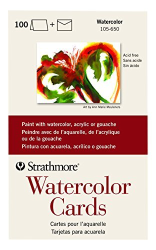 Strathmore (105-650 Watercolor Cards Full Size Cold Press, 100 Envelopes ()