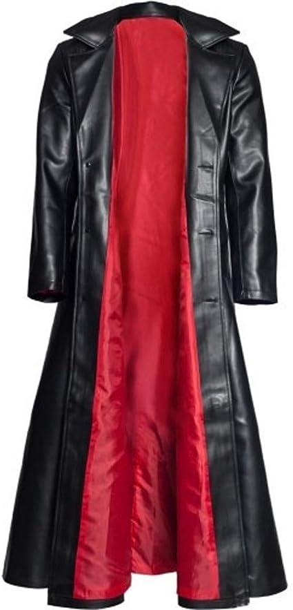 Trisee Manteau Long Gothique En Cuir de La Mode Des Hommes