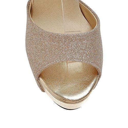 Donna EU AdeeSu Oro 35 Gold Ballerine fwn0q5zT