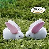 20 Pcs Miniature Fairy Garden Herd of Rabbits For Sale