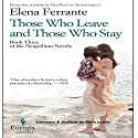 Summary & Analysis - Those Who Leave and Those Who Stay: Neapolitan Novels, Book 3 Audiobook by  Book Junkie Narrated by Doug Greene