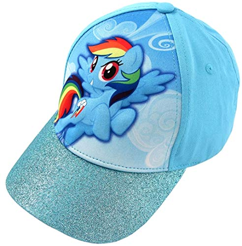 Hasbro Little Girls' My little Pony Rainbow Dash 3D Pop Baseball Cap, Blue, Age -