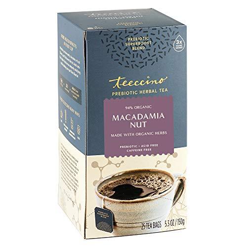 Teeccino Prebiotic SuperBoost™ Herbal Tea – Macadamia Nut – Support Your Probiotics with Vegan GOS & Organic XOS For…