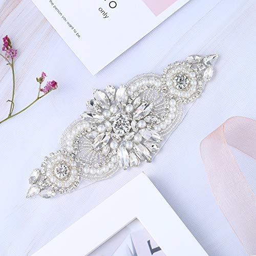 Diy Halloween Headpieces (Bridal Wedding Apliques Sewn Iron on Rhinestone Belts Sashes Sparkle Thin lightweight for DIY Women Dress Clothing Headbands Headpieces Garters Tiaras Veils Hats Shoes Bags -)