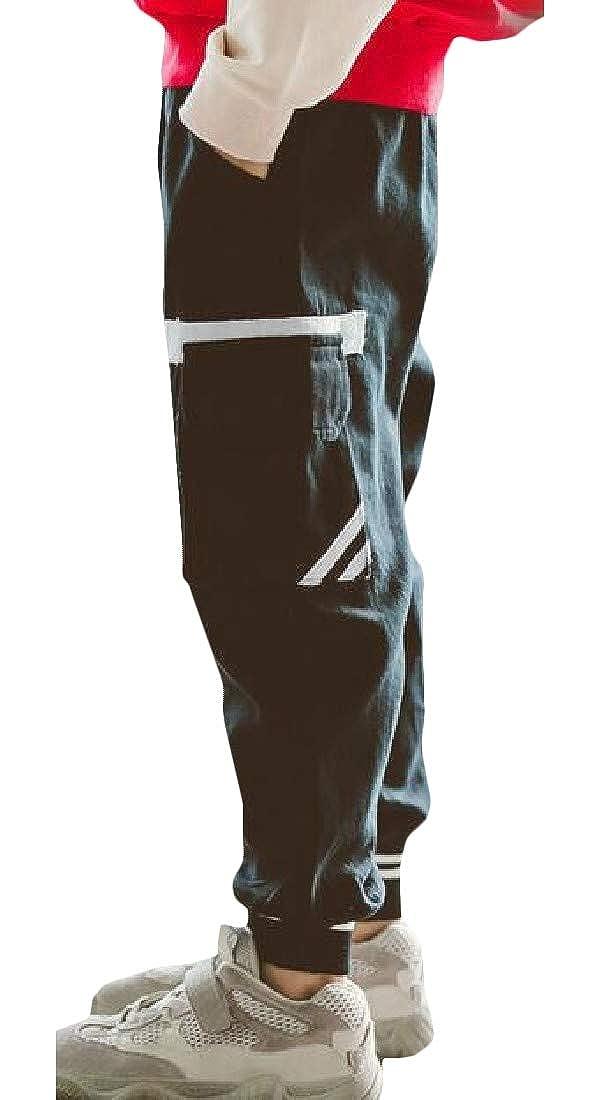 Macondoo Boys Vogue Running Sweatpants Elastic-Waist Active Jogging Pants