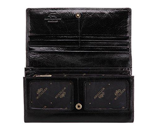 Wittchen Brieftasche | Farbe: Schwarz| Material: Narbenleder| Größe: 18,5x10 CM, | Orientierung: Horizontal | Kollektion: Italy| 21-1-052-L1