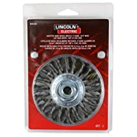 """Lincoln Electric KH305 Knotted Wire Wheel Brush, 20000 rpm, 4"""" Diameter x 1/2"""" Face Width, 5/8"""" x 11 UNC Arbor (Pack of 1)"""