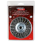 Lincoln Electric KH305 Knotted Wire Wheel Brush, 20000 rpm, 4'' Diameter x 1/2'' Face Width, 5/8'' x 11 UNC Arbor (Pack of 1)