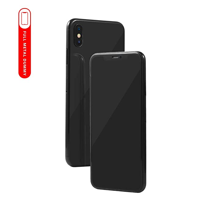 Metal Dummy Fake Phone Model for Apple iPhone Xs Max 6 5 inch Non-Working  1:1 Scale Toy Case (6 5 Grey)