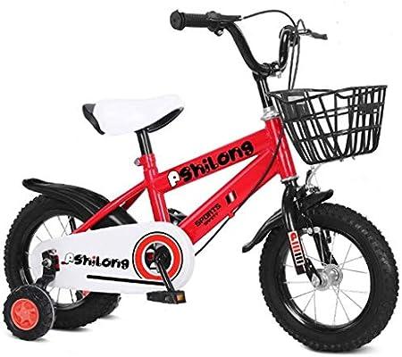 K-G Bicicleta Infantil Bicicletas For Niños Niñas/Niños del Niño Bici En Tamaño 12Inch 14inch 16Inch Pedal De La Bicicleta Durante 2-10 Años De Edad Rueda con Formación (Color : Red, Size :