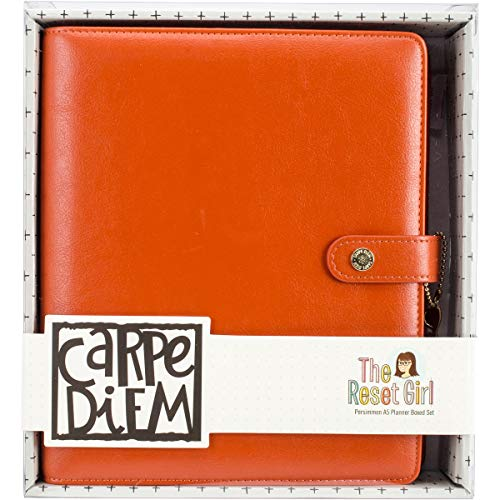 Carpe Diem Persimmon Reset Girl A5 Planner Boxed Set]()