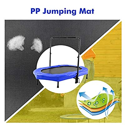 Hosmat Mini Rebounder Trampoline with Adjustable Handle for Two Kids, Parent-Child Twins Trampoline | Max. Load 220LBS (Blue) : Sports & Outdoors