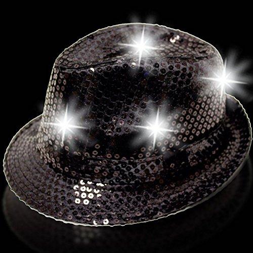 Black Sequin Fedora (Windy City Novelties LED Sequin Fedora,)