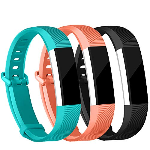 iGK Replacement Bands Compatible for Fitbit Alta and Fitbit Alta HR, Newest Adjustable Sport Strap Smartwatch Fitness Wristbands Black Coral Teal Small