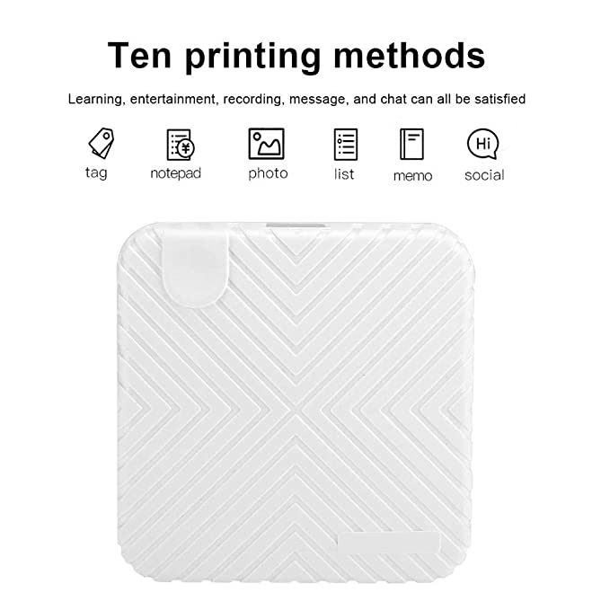 Wendry Impresora térmica Bluetooth, Impresora fotográfica 203DPI ...