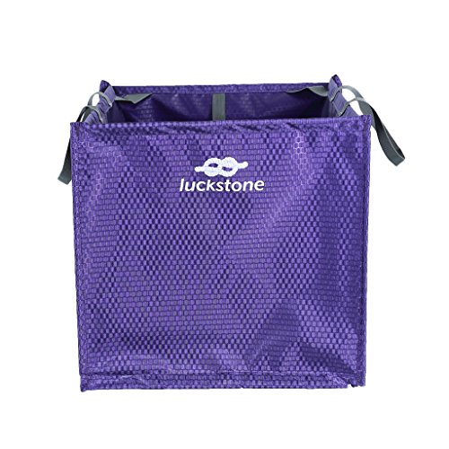 MagiDeal Foldable Tree Climbing Rock Climber Caving Throw Line Rope Cord Protector Deploy Cube Carry Bag 15.35 x 15.35 x 15.35 inch - Choice of Color - purple