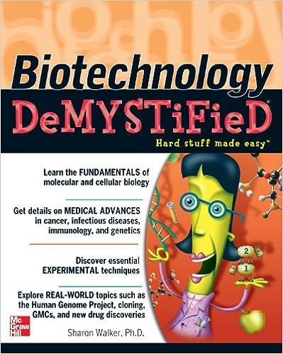 Biotechnology Demystified 1, Sharon Walker - Amazon com