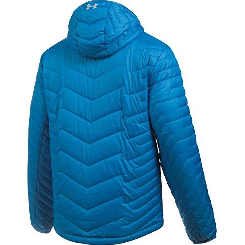 Under Armour hombres Coldgear Reactor con capucha de la chaqueta Brilliant Blue/Overcast Gray
