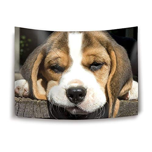 anging Tapestries Wood Climb Beagle Tapestry Wall Blanket Wall Decor Wall Art Home Decor Collage Dorm Decoration ()