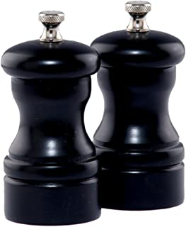 "product image for Chef Specialties 4"" Capstan Pepper Mill and Salt Mill Set, Ebony"