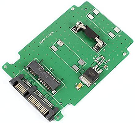 eDealMax mSATA SSD a 7 + 15Pin SATA 2.5 adaptador de tarjeta de HDD Para el ordenador portátil