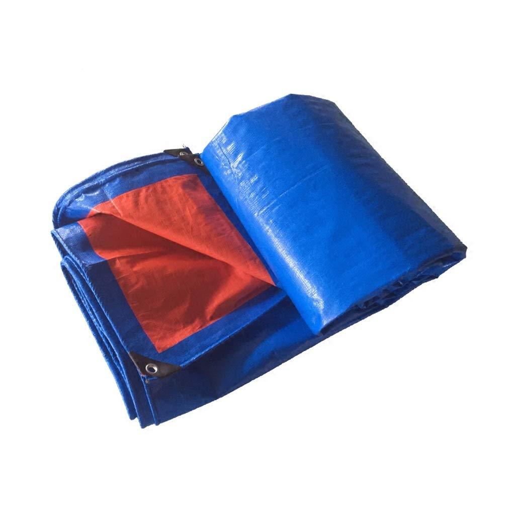 YEIUY Wasserdichte Plane dick Poncho mit hoher Dichte gewebt blau Zelt, Schutzplane im Freien Sonnenschutz Plane Parkplatz Schuppen Staub Plane, Verschiedene Größen