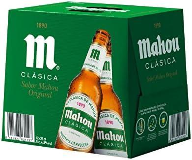 Mahou Clásica Cerveza Dorada Lager, 4.8% de Volumen de Alcohol ...