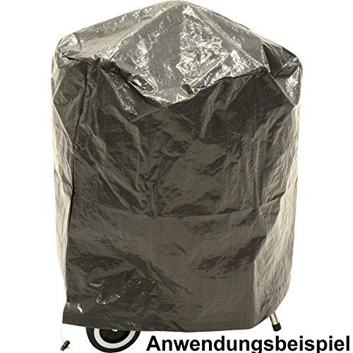 Abdeckhaube Grill rund Ø65x70cm grau Grillabdeckung Schutzhülle Grillhaube BBQ