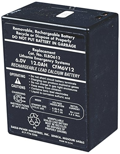 - Lithonia Lighting ELB 0612A 6 Volt Emergency Replacement Battery
