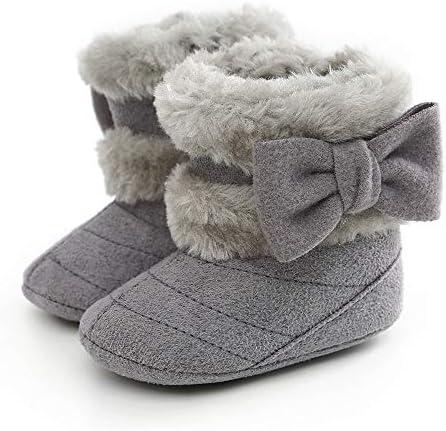Dejian Baby Boys Girls Warm Winter Boots Soft Sole Anti-Slip Newborn Infant Prewalker Toddler Snow Boots
