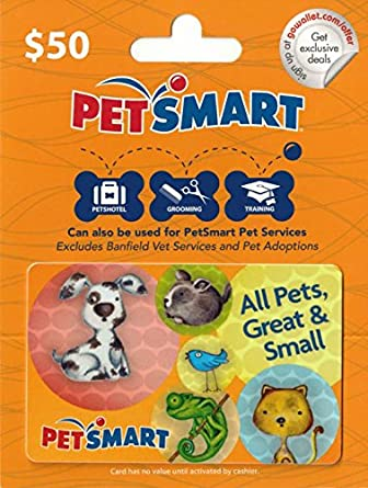 Amazon.com: PetSmart $50 Gift Card: Gift Cards