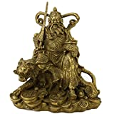 Feng Shui Brass God of Wealth with Sword & Tiger W Fengshuisale Red String Bracelet M4044