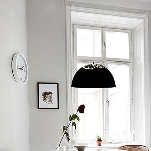 Large Black Dome Pendant Light