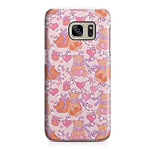 Samsung S7 Case Pretty Heart Love Pattern For Girls Valentine Sleek Low Profile Light Weight Clear Samsung S7 Cover Wrap Around 159